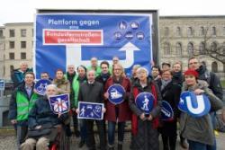 GiB-Aktion zum Start der Plattform gegen die Bundesfernstraßengesellschaft