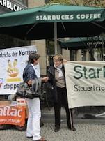 Aktion bei Starbucks im Januar 2014.
